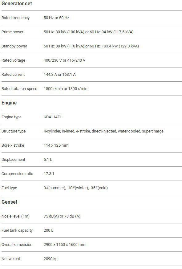 مشخصات کیپور دیزلی KDE118ss3