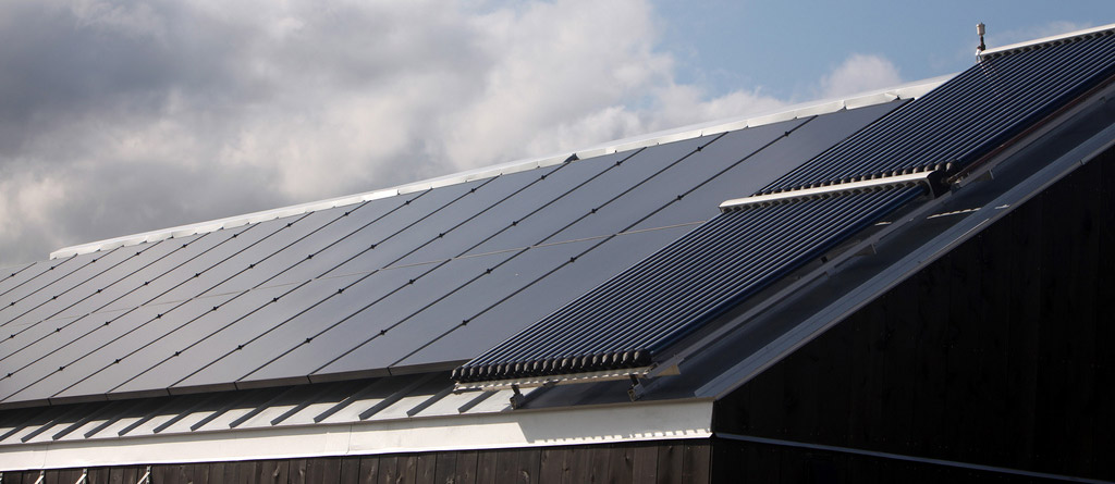 کانکس با آبگرمکن خورشیدی